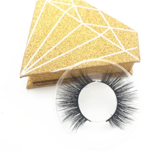 100% handmade real mink lashes Private Label Eyelashes 3D Real Mink Eyelash Black Cotton Band