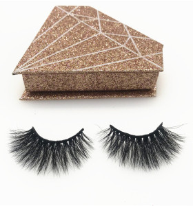 Professional eyelashes vendors wholesale real mink eyelashes packaging box 3d mink eyelashes