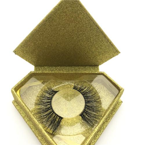2020 new arrival long natural eyelashes 3d mink eyelash with magnetic box
