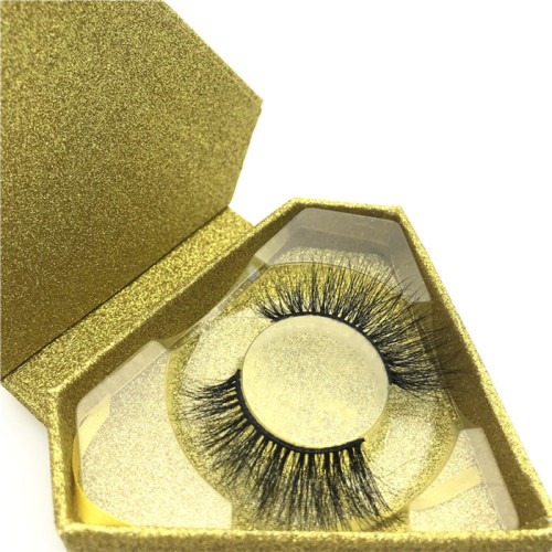 2020 new arrival long natural eyelashes 3d mink eyelash with magnetic box