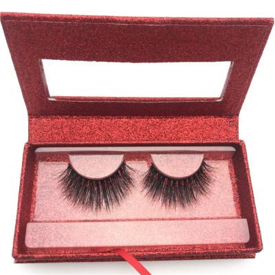 Soft 100% Handmade mink eyelashes Wholesale glitter lashes boxes Custom Packaging 3D Mink Eyelashes
