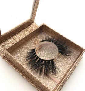 Lashes 3d wholesale vendor bulk eyelashes 3d natural long mink eyelash with packaging box