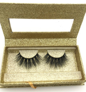 Wholesale cruelty free 3d mink eyelashes private label eyelash box glitter custom eyelash packaging