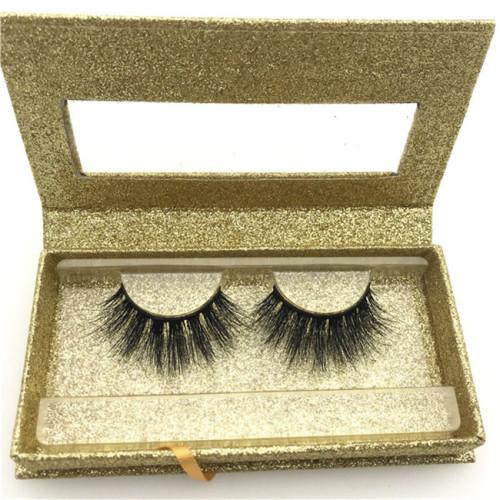 Wholesale cruelty free 3d mink eyelashes private label eyelash box glitter custom eyelash packaging