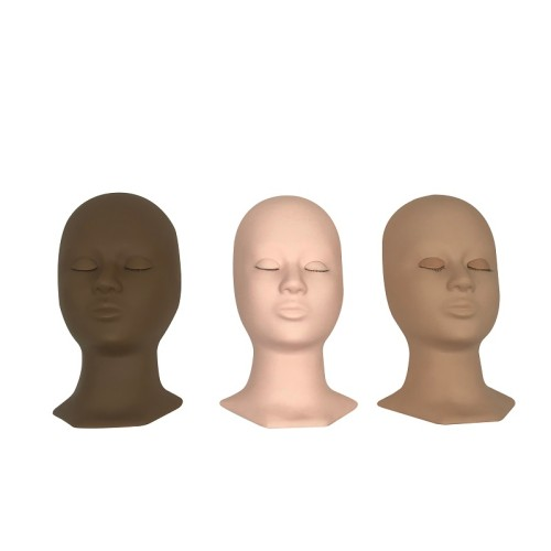 Hot!!! LIFELIKE REAL SKIN Training Mannequin head with eyelids for eyelash extensions training in stock ACCEPTED CUSTOM