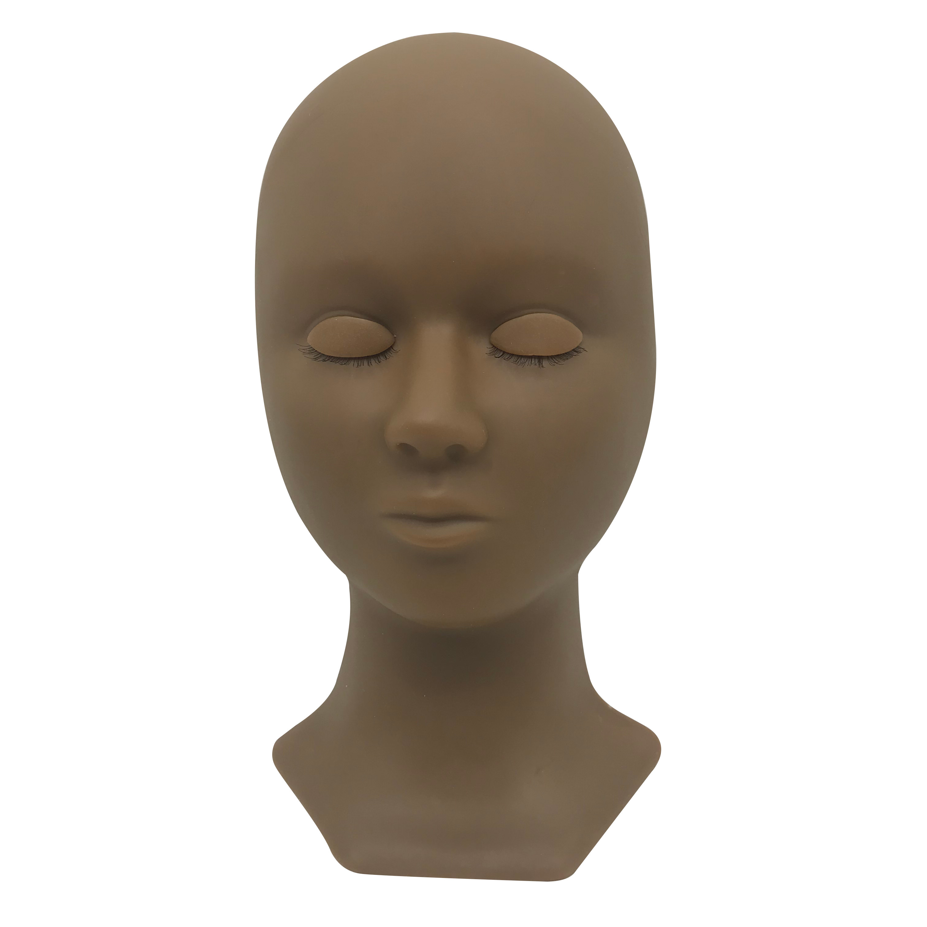 mannequin head with eyelids