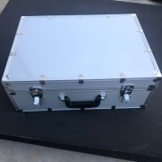 High-end premium customized sliver aluminum tool case Pure aluminum wire drawing surface box&kit with EVA foam
