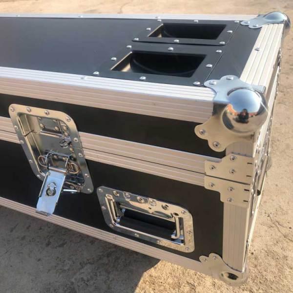 Factory customized big aluminum flight case tool guitar black aluminum alloy box with wheel stackable