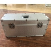 Customized size sliver big aluminum flight case tool air box aluminum alloy kit with EVA lining model