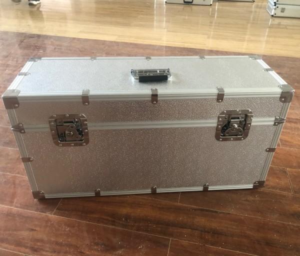 Customized size sliver big aluminum flight case tool air box aluminum alloy kit with EVA lining model