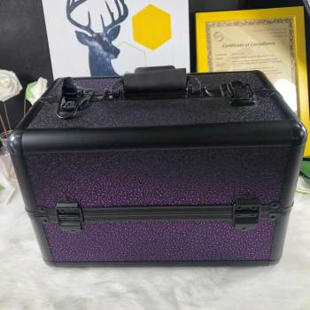 New fashion style Purple gradient aluminum alloy make-up box&case for girls dresser in stock
