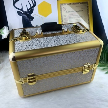 2019 new style local tyrants golden aluminum alloy make-up box&case for girls dresser in stock