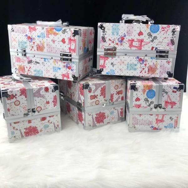 定制多彩便携小铝合金化妆箱专业化妆盒收纳包