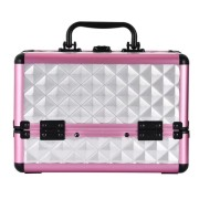 Customized color Hard Aluminum Carrying make-up Case Lockable Cosmetics Make-up Beauty box Nail Tech Hair Salon Jewelry