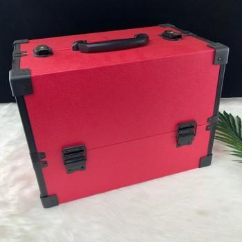 Tragbarer dauerhafter rechteckiger kurzer Aluminiumschönheitskasten-Make-upkasten Kosmetikkasten en ventes