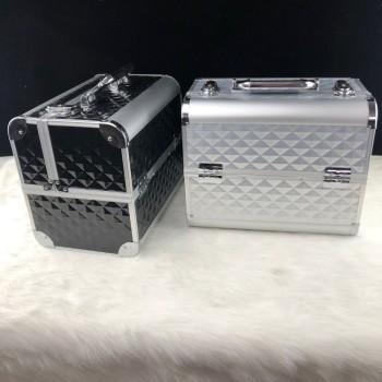 防水ABS / PC铝制化妆收纳盒粉色美容盒化妆盒