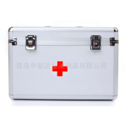 Multi-functional portable portable aluminum alloy medical case with straps partition