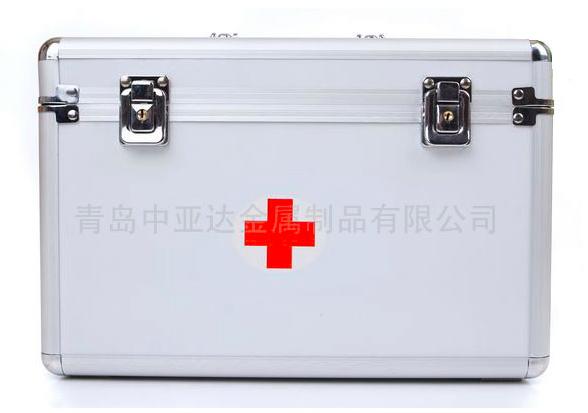 多功能医疗便携式铝合金医用箱带分隔背带