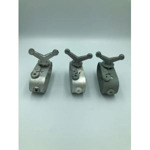 Aluminum roller type wire tightener