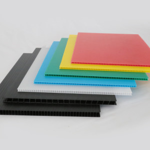 Corona Treated Printable Durable Colorful Plastic PP Corrugated Sheet for Sign Indoor & Outdoor