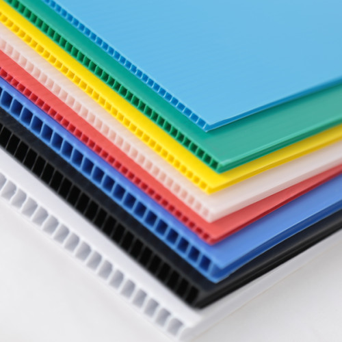 2020 Carton Fair Product Printable PP Plastic Polypropylene Corrugated Coroplast Fluted Sheet