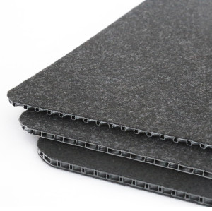 Flame Resistant Plastic Board Polypropylene PP Bubble Sheet for Automotive