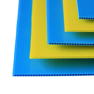 Easy to Cut Waterproof Lightweight PP Fluted Polypropylene Plastic Corrugated Sheet