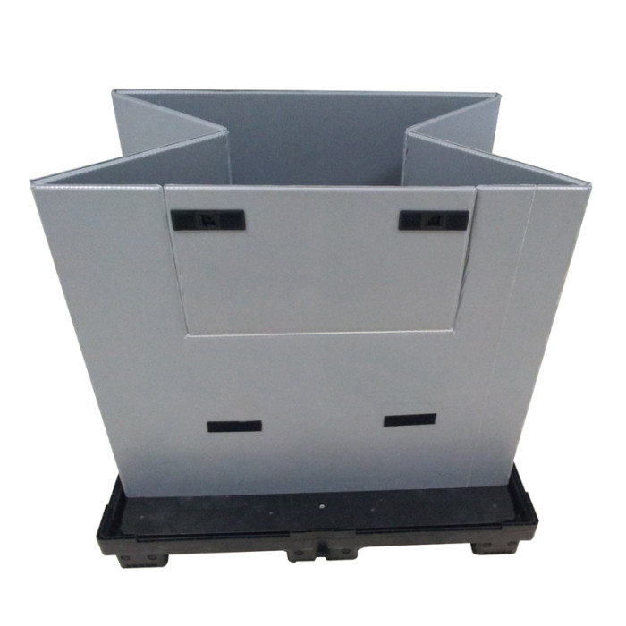 China manufacturer foldable durable packaging box plastic honeycomb pallet sleeve container