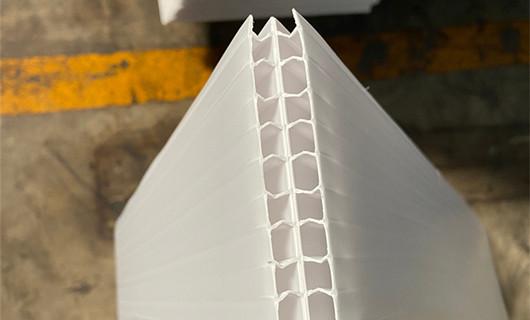 half die-cutting fluted sheet