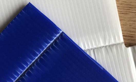 creasing on pp corrugated sheet