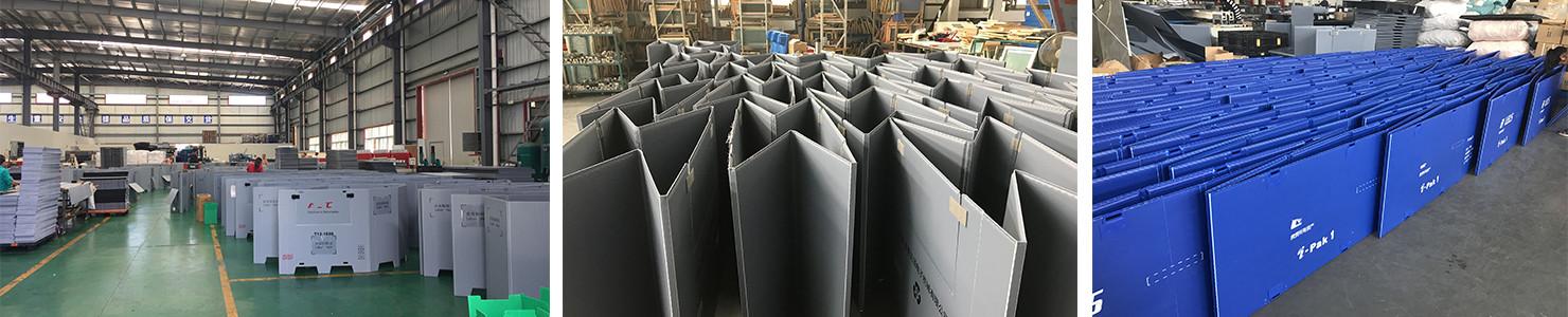 plastic sleeve packs in warehouse