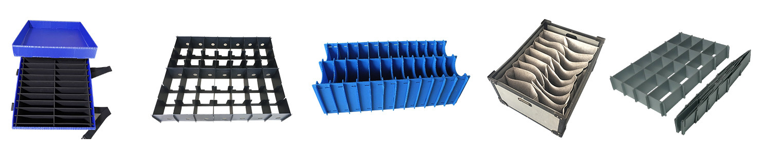 Dividers and partition for reusable container box