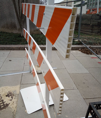 plastic hollow sheet for traffic sign