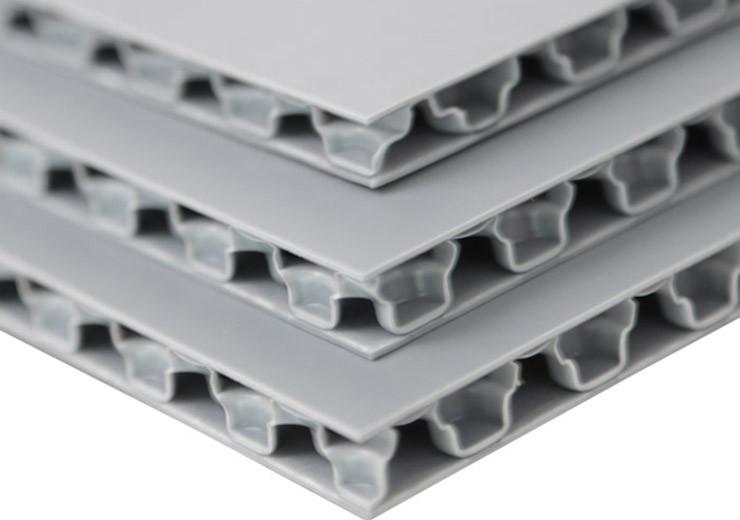 Matt polypropylene honeycomb board