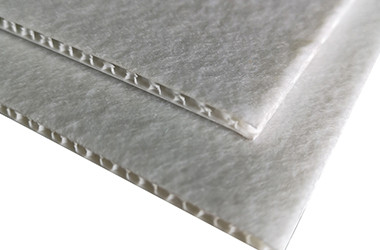 Polypropylene honeycomb board with nonwoven fabric