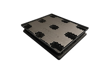 Injection molded HDPE top lid and pallet