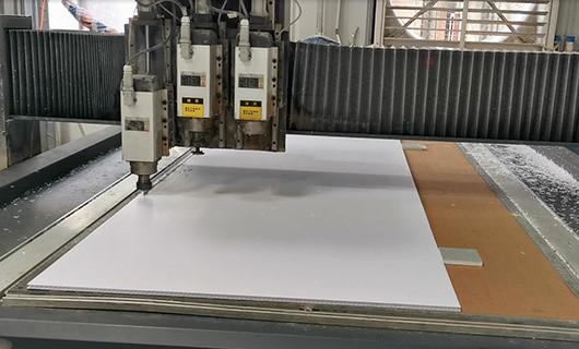 CNC cutting corflute sheet
