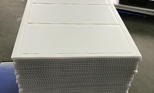 die-cutting fluted sheet