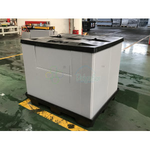 Large Collapsible PP plastic packaging container pallet sleeve boxes