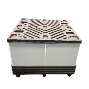 Polypropylene plastic storage box with lock for warehouse and logistics