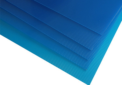 Grain surface PP film with lines