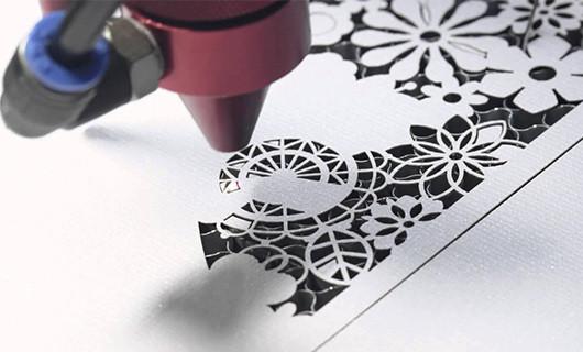CO2 laser cutting PP film sheet