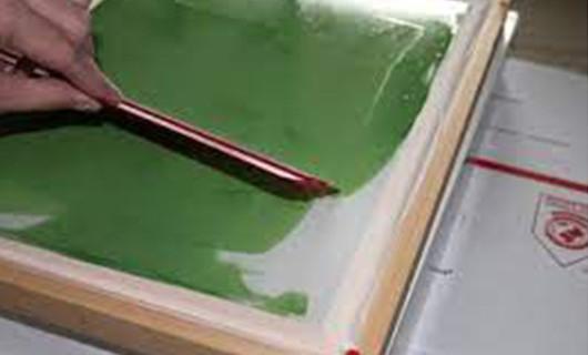 Silk screen printing for plastic sheet
