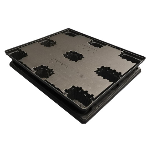 Thermoplastic HDPE plastic pallets & Lids for packing and sleeve pack system