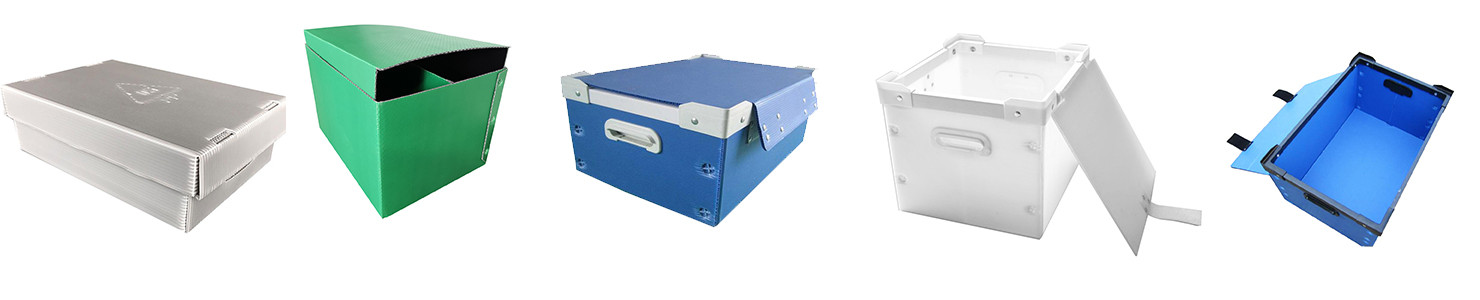Plastic turnover box with lid