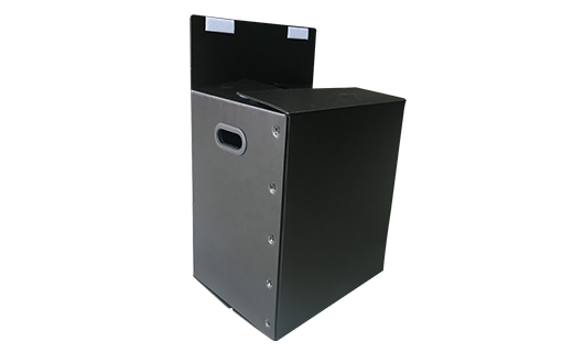 Black handle for plastic boxes and containers