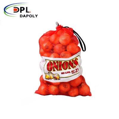 Plastic Woven Leno PP Mesh Onion, Garlic, Potato Net Bags