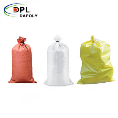 Hot Style White Plastic Woven Bags Wholesale Waterproof Packaging PP Woven Sacks