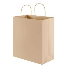 Kraft brown paper bag new design paper bag shopping bags with handle