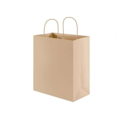 Kraft brown paper bag new design paper bag shopping bags with handle